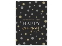 Silver & Gold Style & Glitz Happy New Year Cards